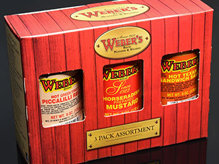 Webers Three Pack includes Horseradish Mustard, Piccalilli Relish and Hot Texan Sandwich Sauce.
